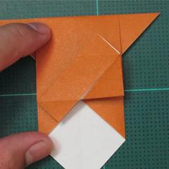 วิธีพับกระดาษเป็นที่คั่นหนังสือรูปหมาบูลด็อก (Origami Bulldog Bookmark) 007