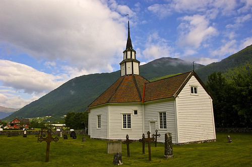 Picturesque Stordal Church