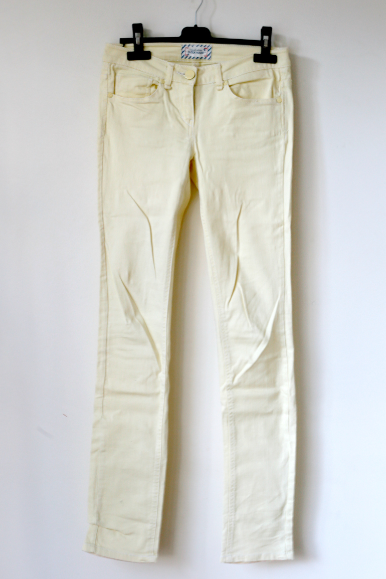 lichtgeel skinny jeans c&a clockhouse