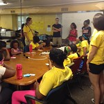 Zwena, Raven, and Jamela lead sticky note speakers with fostering curiosity Detroit 2014