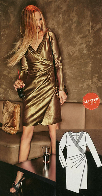 Burda-August-2014 Faux Wrap Dress