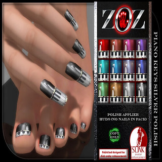 -{ZOZ}- Piano Keys Silver Polish pix