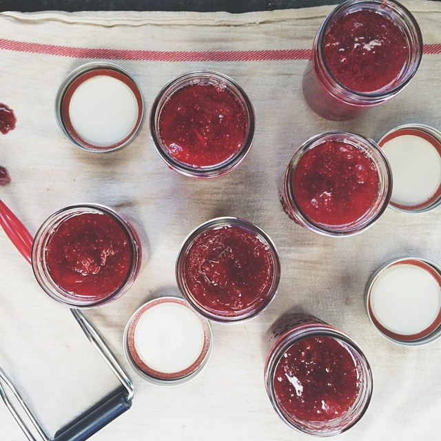 First batch of strawberry jam! #eatseasonal
