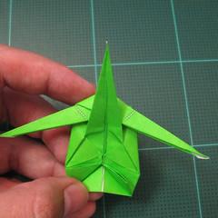 วิธีพับกระดาษเป็นรูปหอยทาก (origami Snail) 026