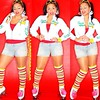 Love these pics... #rollergrrrl #riedell #rollerskates #quads #legwarmers #shortshorts #pigtails #leo #pompoms Before I became #shebaobaby