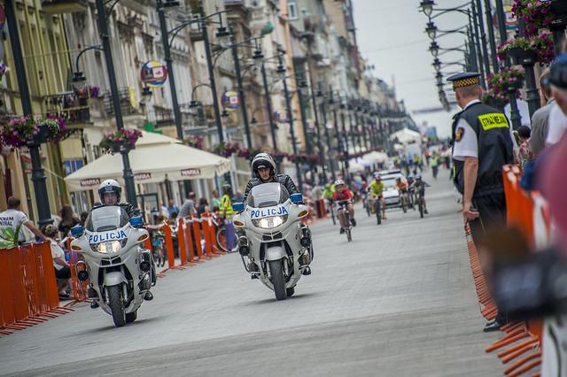 Bike Race on Piotrowska Street