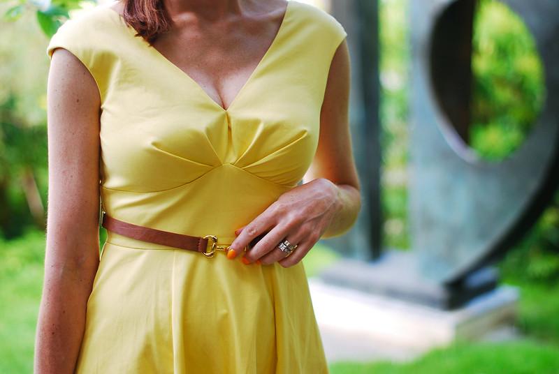 Vintage-style yellow dress