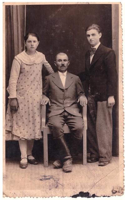 The Bondy family: Mary, John, and John