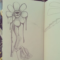 #eyeflower sketch 1996