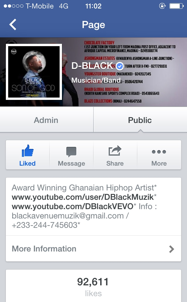 Verified D-Black facebook