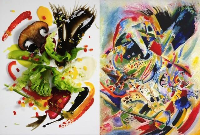 edible Kandinsky (credit 'Comes Cake' and MoMA website)