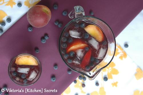 Heidelbeer- Pfirsicht Eistee, Viktoria's [Kitchen] Secrets