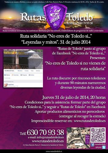 """Ruta solidaria """"No eres de Toledo si…"""", el 31 de julio"""