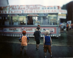 Walking in the Rain at the 4-H Fair
