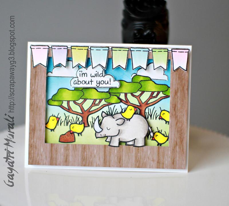 Lawn Fawn scenery card