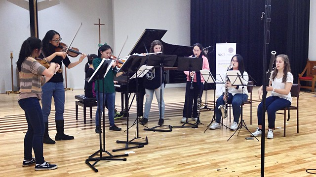 Looking forward to the NZCM Competition finals tonight. Here\'s the Appalachian Octet rehearsing my piece today.