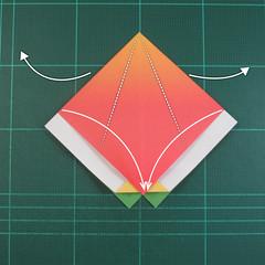 วิธีพับกระดาษเป็นรูปนกแก้ว (Origami Parrot) 009