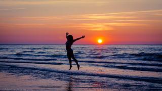 Image of Köpingsviksbadet. sunset sky woman water beauty silhouette nikon sweden happiness sverige vatten sommar öland 2014 känsla d7000 lyckorus