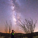 Milky Way selfie in Anza-Borrego Desert State Park by slworking2