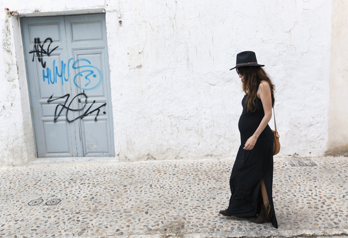 street style barbara crespo altea black long dress C&A fashion blogger outfit blog de moda