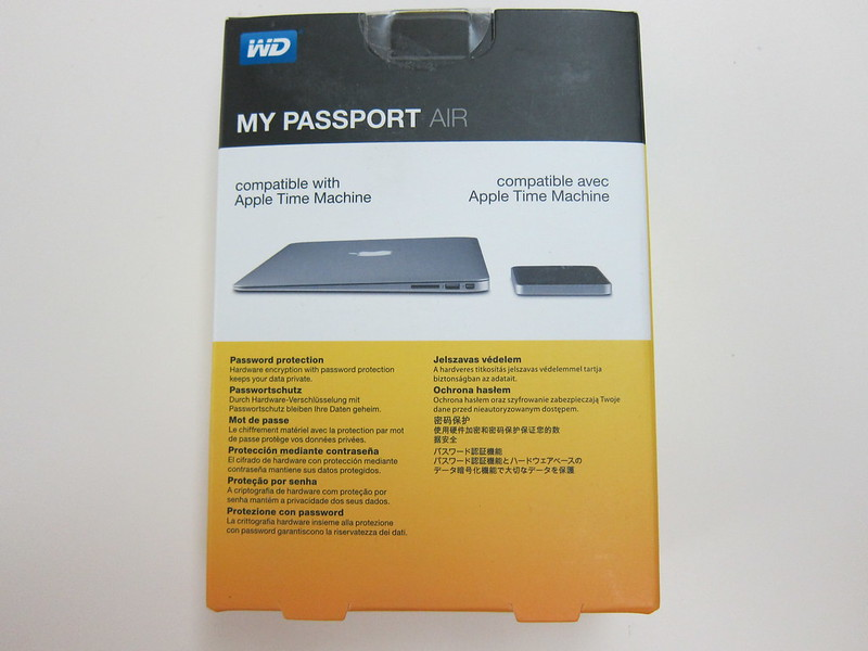 Western Digital My Passport Air - Box Back