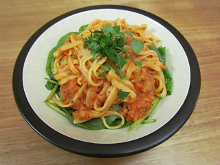 Linguine with Red Lentil Sauce