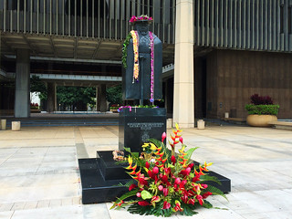 Image of Father Damien Statue near Honolulu. flower flickr state capitol fatherdamien