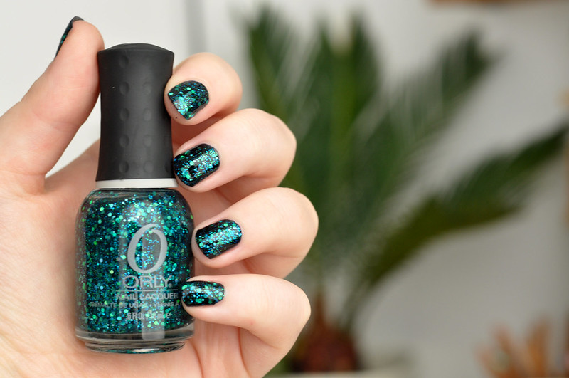 notd orly go deeper over black nail polish rottenotter rotten otter blog