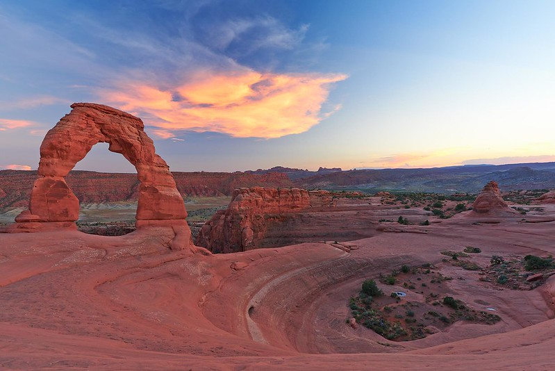 Delicate Arch after Sunset - Arches National Park