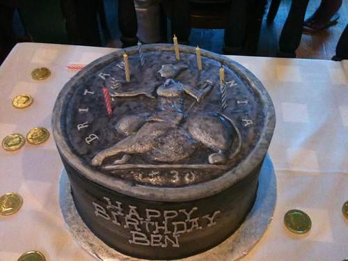 Benjamin Tarr birthday cake