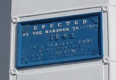 Photo of Thomas Blaikie, Alexander Hadden, and harbour lighthouses, Aberdeen blue plaque