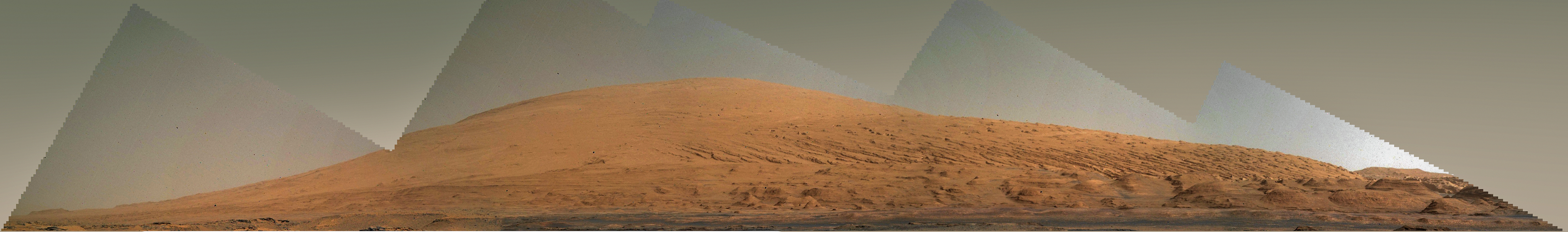 Curiosity Mount Sharp from MAHLI sol 739 to 748