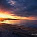 Tramonto dalla spiaggetta di Punta Aderci