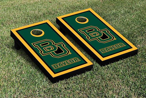 Baylor Bears Cornhole Game Set Border Version