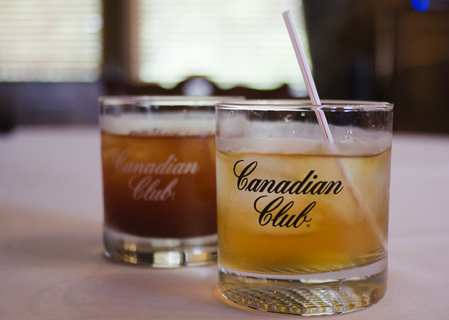 Canadian Club and ginger ale