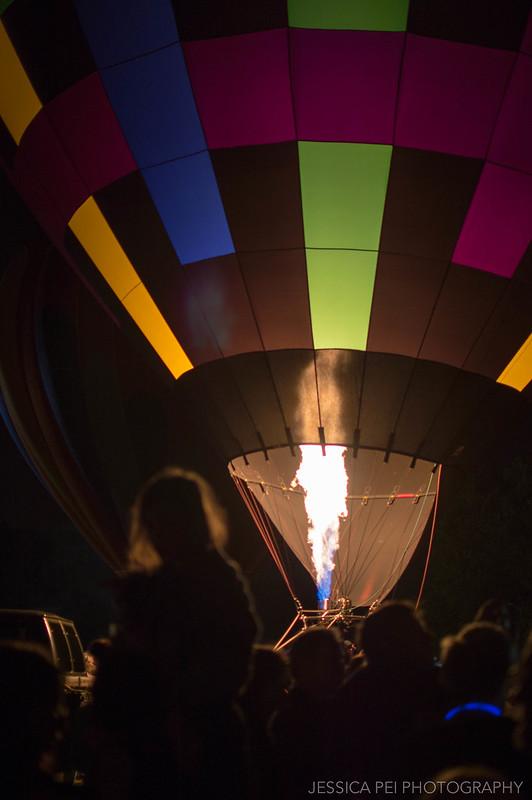 catching fire hot air balloon