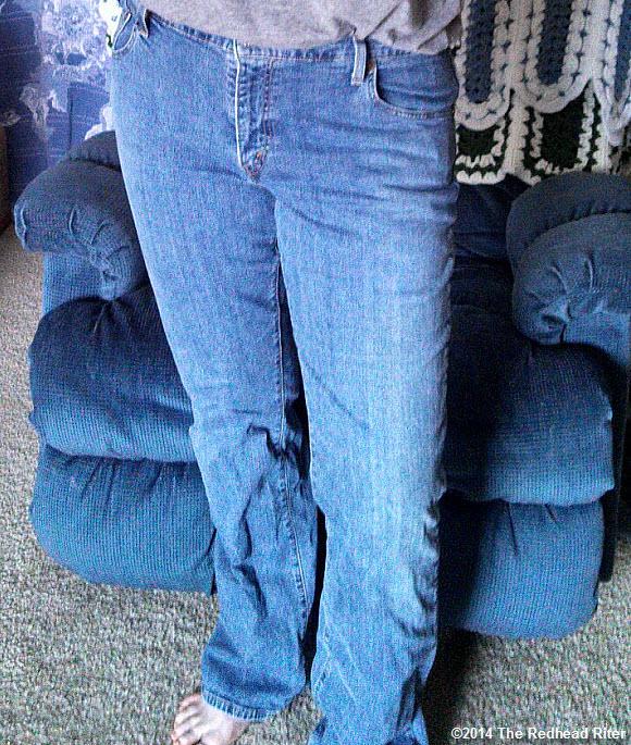 skinnier blue jeans redhead sherry riter