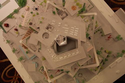 聯鋼營造+石昭永+坂茂建築事務所 Shigeru Ban - 台南市立美術館 - model 建築模型