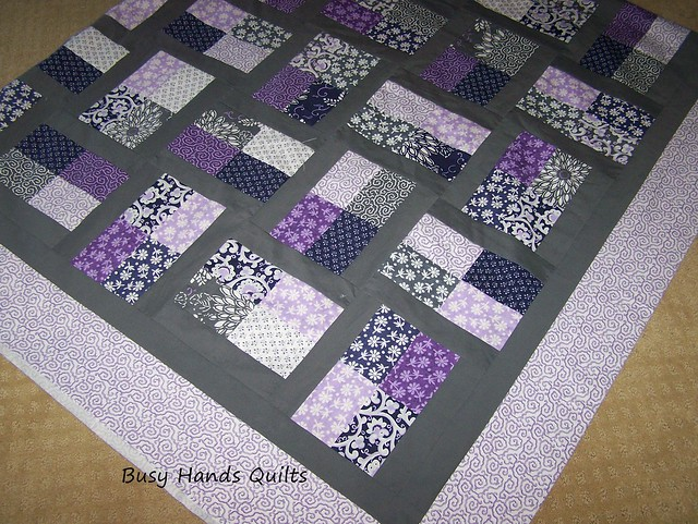 Custom King-Sized Phoebe's Flower Box Quilt Top