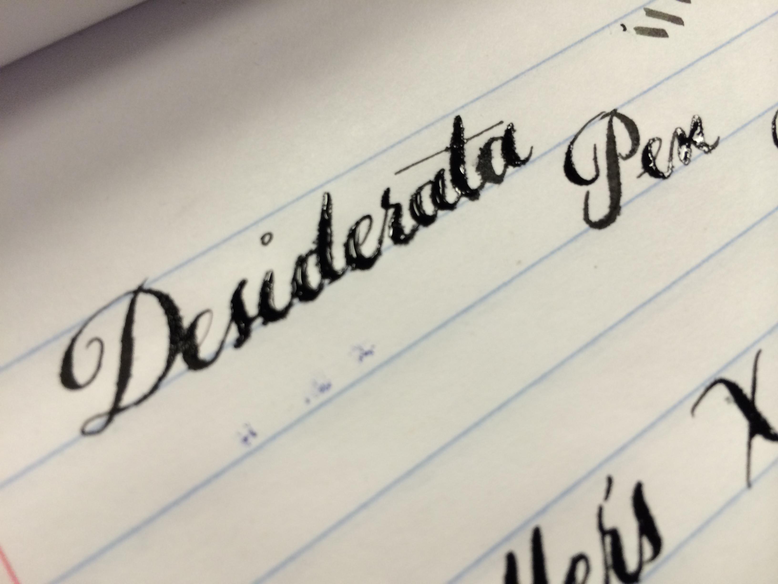 Desiderata Pen Co.