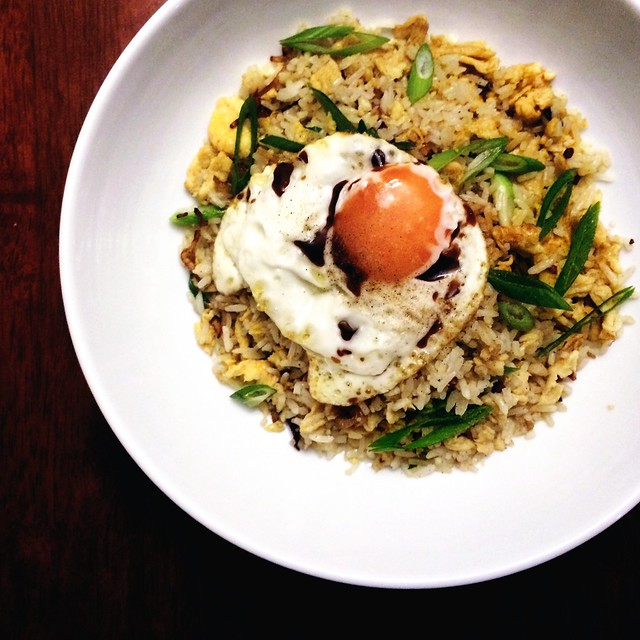 Chinese Fried Rice with Crispy Fried Egg