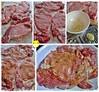 pork chops - enjoying my massage and herbal bath services .... :P   晚餐預備中 - 煎蒜蓉薑汁豬扖