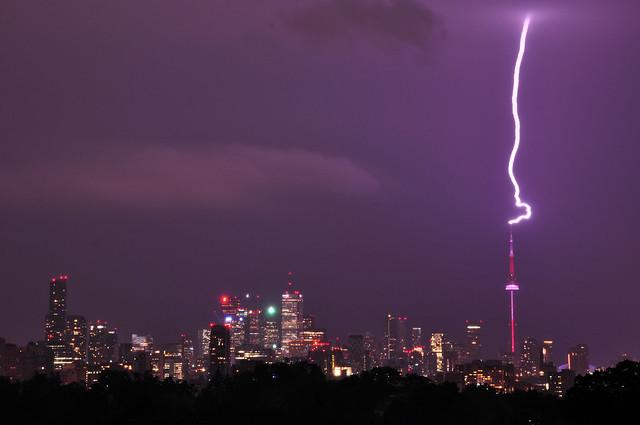 Lightening Strikes CN Tower