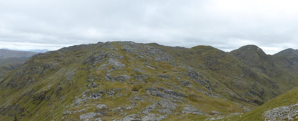 An t-Slat-bheinn, Sgurr na Ba Glaise and Rois-Bheinn from slopes of Druim Fiaclach