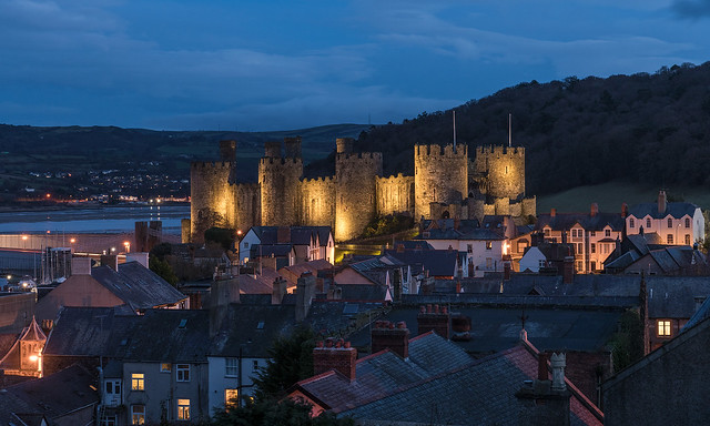 'Rooftops And Turrets' - Conwy