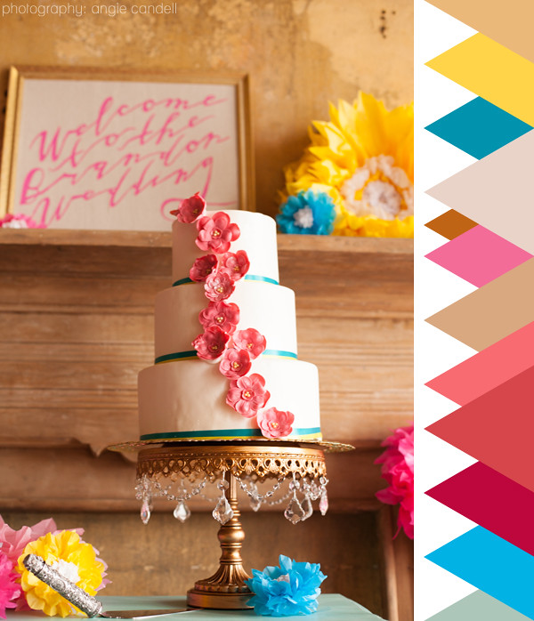 colour crush : Pretty Living's colourful vintage wedding style | Emma Lamb