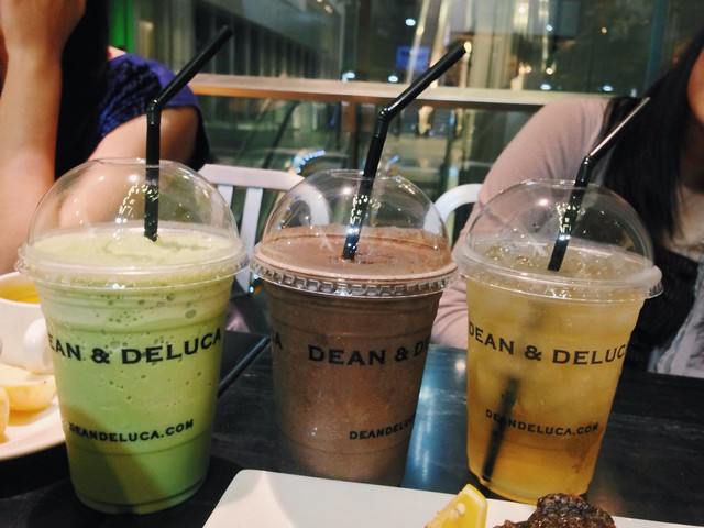 Green Tea Chendol, Chocolate shake, Citrus Mint