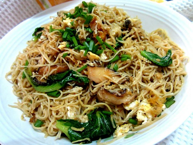 Made-in-China noodles, fried