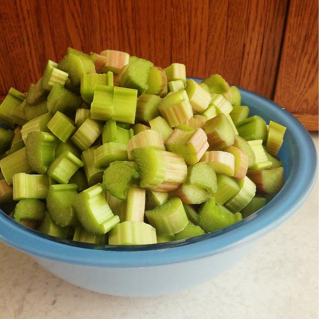 green rhubarb
