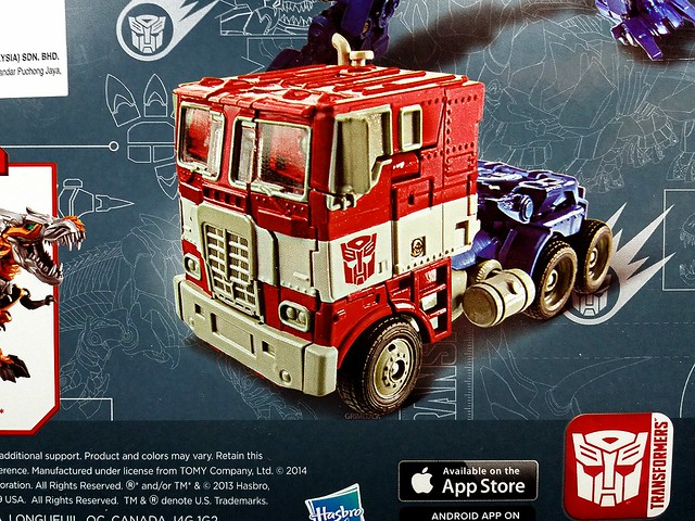 Voyager Class Optimus Prime - Age of Extinction...probably the only #transformers toy I'd get from the upcoming movie (though am pretty temp ted to get Grimlock to go with him )...his truck cab is a great homage to the G1 cartoon we all know and love! #g